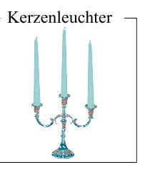 Kerzenleuchter, dreiarmig